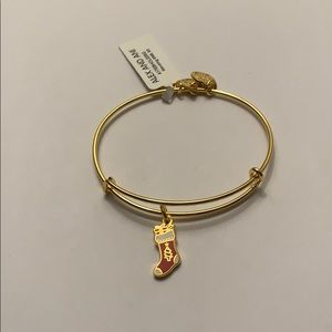 Alex and Ani Stocking Bangle Shiny Gold